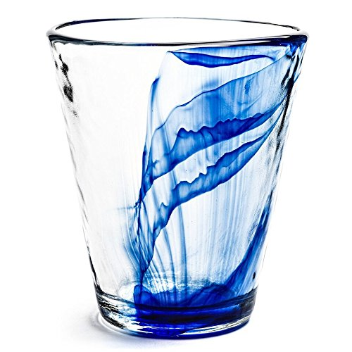 (Bormioli Rocco Murano 14.5 oz. Cobalt Blue Beverage Glass, Set of 12)