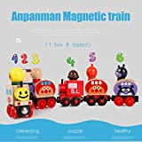 6Pcs Wooden Train Cars Magnetic Set with Carriages Train Toy Collection for Kids Toddler Boys and Girls
