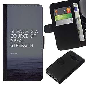 All Phone Most Case / Oferta Especial Cáscara Funda de cuero Monedero Cubierta de proteccion Caso / Wallet Case for Samsung Galaxy Core Prime // cita fuente gran fuerza éxito