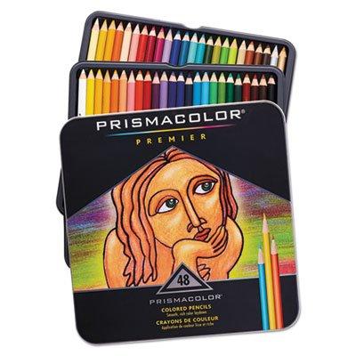 Premier Colored Woodcase Pencils, 48 Assorted Colors/Set by Prismacolor