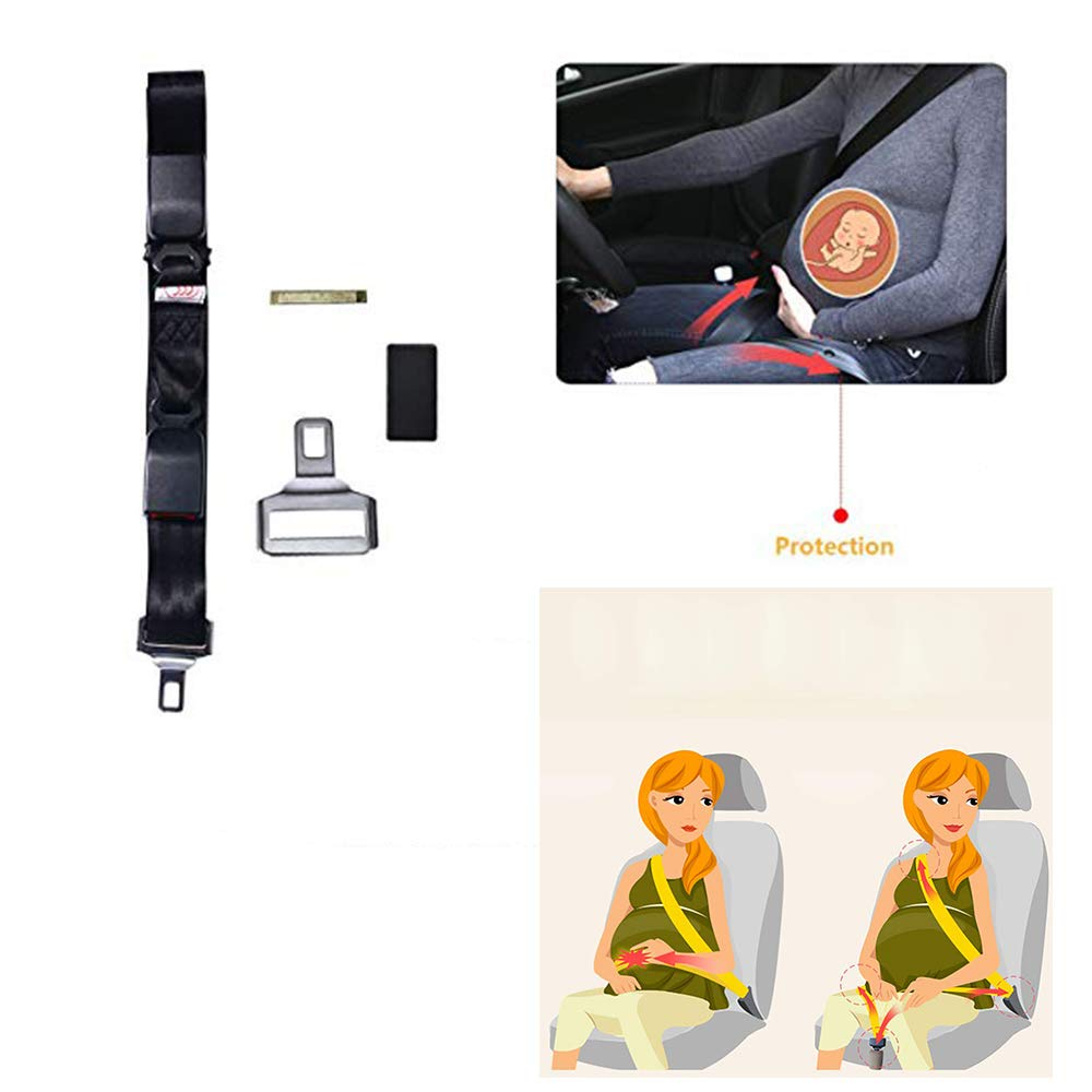 Abnaok Maternity Car Belt Adjuster, Comfort and Safety for Pregnant Moms Belly, Pregnant Women only, Protect Unborn Baby (Black) by Abnaok