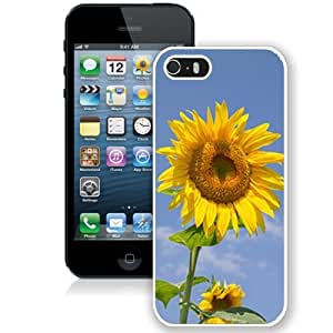 Fashionable Designed Cover Case For iPhone 5S With Sunflower Flower Mobile Wallpaper 1 (2) Phone Case