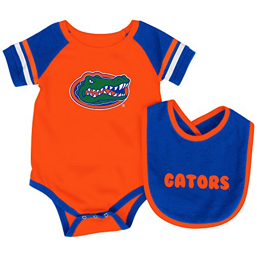 Colosseum Florida Gators Infant Roll-Out Onesie and Bib Set 0-3 Months