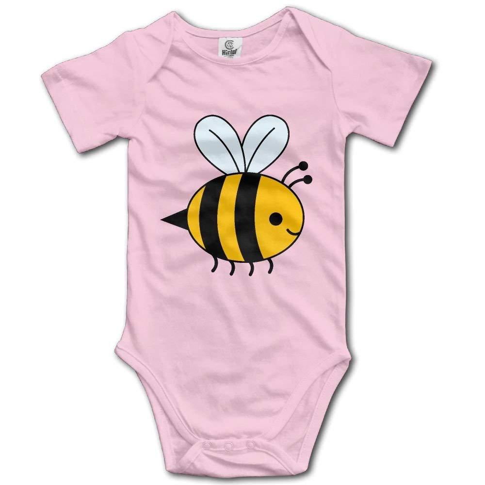 noerese Bee Hip Hop Newborn Baby Short Sleeve Romper Infant Summer Clothing