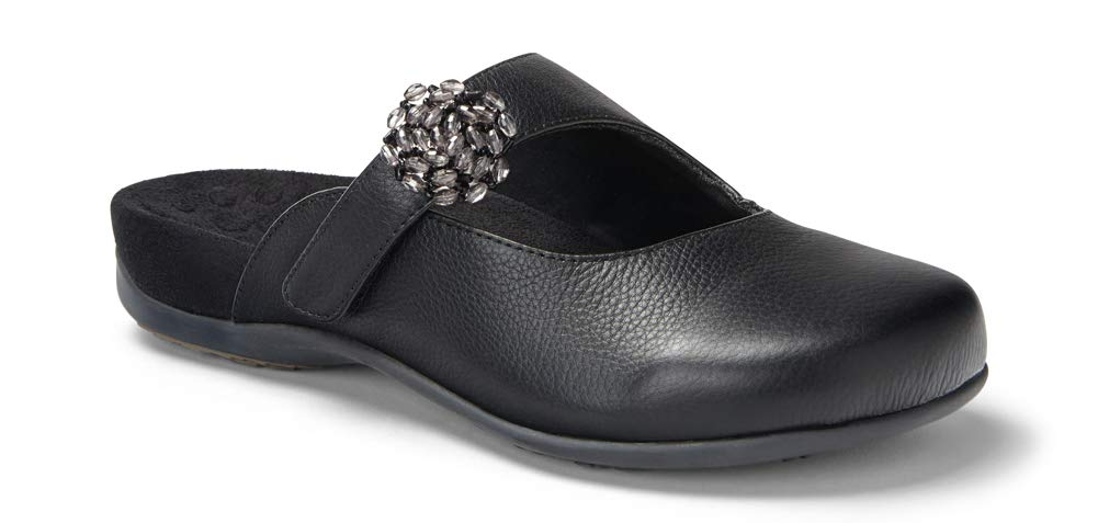 Vionic with Orthaheel Technology Womens Joan Mary Jane Mule Black Size 8