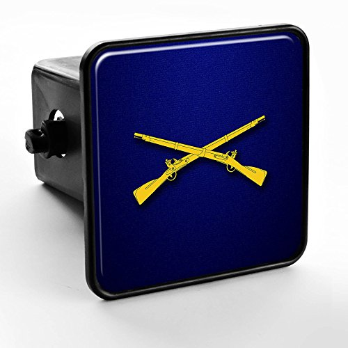 ExpressItBest Trailer Hitch Cover - US Army Infantry, branch insignia Army Hitch Cover
