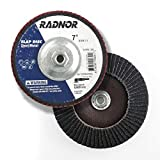 Radnor 1'' X 1/4'' Stainless Steel Crimped Wire Mounted End Brush