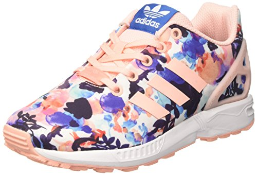 Adidas ZX Flux - BB2879 - Color Pink-White-Blue - Size: 4.5 by adidas