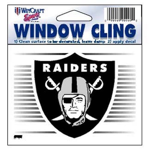 (WinCraft Oakland Raiders NFL 8x8 cm Static Cling Auto Decal)