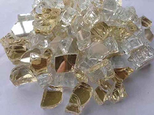"""High Luster 1/2"""" Reflective Fire Glass for Fireplace Or Fire Pit 10 Lb in A Bag (Cobalt Blue) None"""