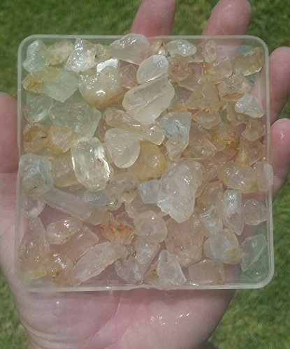 1/2 Lb Lot of Raw Topaz Rough Crystals From Brazil Multi Color TZ1 (Topaz Brazil)