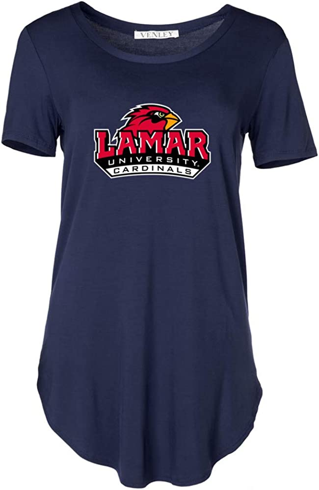 Venley Official NCAA Lamar University Cardinals PPLAMA02 Womens Crew Neck Tee
