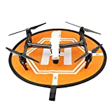 Hooshion-Collapsible-Helicopters-Helipad-Dronepad-Launch-Landing-Pad-2-Sides-Use-for-RC-Quadcopters-DJI-Phantom-2-3-4-Inspire-1-Mavic-Pro-Black-and-Orange-Opening-Size110-x110-CMwith-a-Storage-Bag