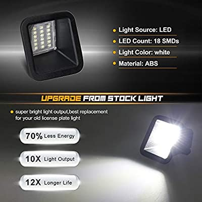 RUXIFEY LED License Plate Lights Lamp Replacement Compatible with 2020 to 2020 Ford F250 F350 Super Duty, 6500K White: Automotive