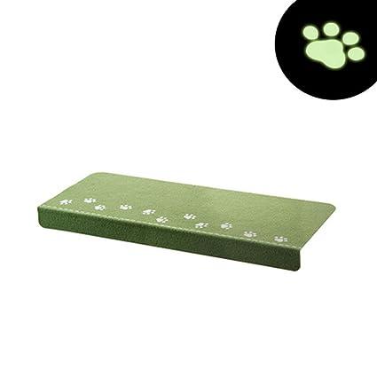 Cuteshower Paw Pattern Luminous Carpet Stair Tread Mats Durable, Mute, Non Slip  Protection