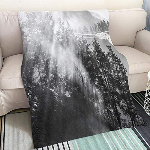 - Luxury Super Soft Blanket Rays of The Sun Breaking Through The Fog Georgia Tusheti Perfect for Couch Sofa or Bed Cool Quilt