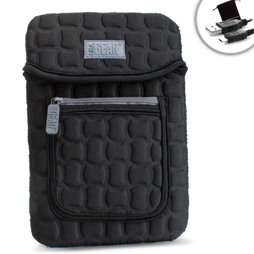 FlexARMOR X Neoprene Tablet Sleeve Case with Carrying Handle, Shock Protection & Front Accessory Pocket - Works with Samsung Galaxy Tab E Lite 7.0, Tab S2, Tab 3 V & More Tablets!