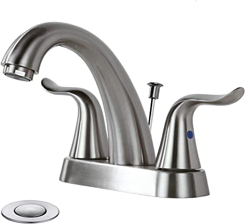 Amazon.com: WOWOW Grifo de baño con 2 asas, grifo de lavabo ...
