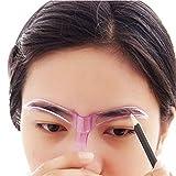 Sankuwen Professional Makeup Grooming Drawing Blacken Eyebrow Template, Random Color