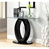 Furniture of America Mason Glass Top Console Table in Black Review