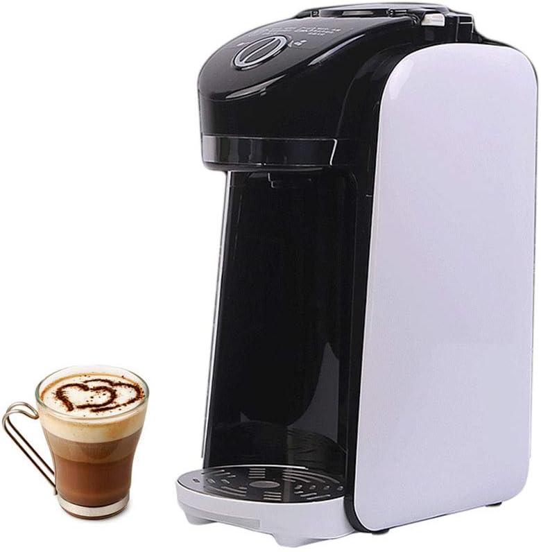 Cafetera De Filtro, Máquina De Frijol A Taza, Expreso Con Molinillo Integrado Y Filtro De Acero Inoxidable Reutilizable, Fácil De Limpiar, En Blanco Y Negro: Amazon.es: Hogar