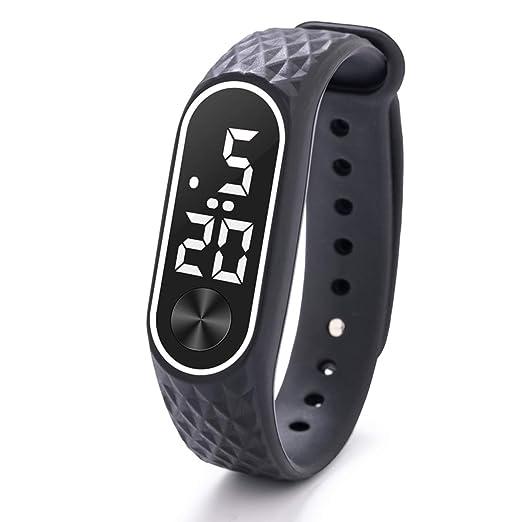 Reloj Deportivo Digital para niños y niñas, Color Negro, para 6 años de Edad, con LED, Regalo para Exteriores: Amazon.es: Relojes
