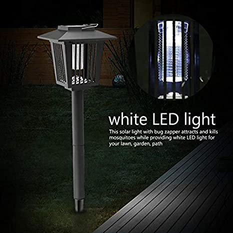 Solar Power Garden Lawn Trap Lights LED Lawn Lamp Electronic Insects Killer