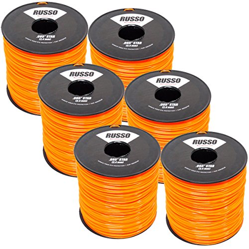 Russo 6 Pack 095 Star 5lb Commercial String Trimmer -