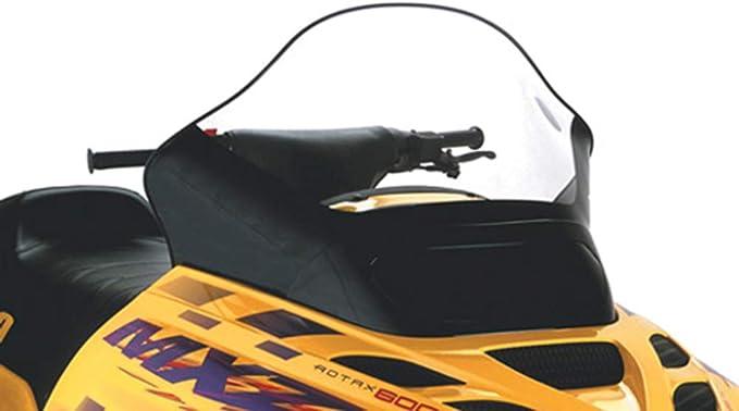 PowerMadd 13432 Cobra Clear 17.5 Tall Windshield Black Graphics