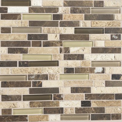 Stone Radiance Morning Sun 11-3/4 in. x 12-1/2 in. x 8 mm Glass and Stone Mosaic Blend Wall - Wall Tile Daltile