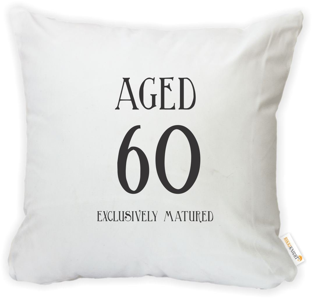 -Printed in The USA Insert Included Rikki Knight 16 x 16 inch Aged 60 Exclusively Matured Birthday Microfiber Throw Pillow Cushion Square with Hidden Zipper