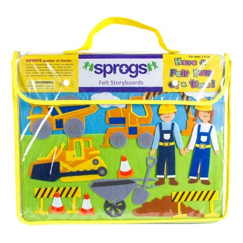 Sprogs SPG-ENA1020-SO-AZ Felt Storyboards Set with Storage - Import