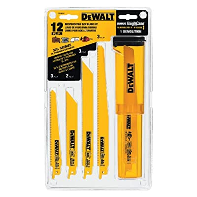 DEWALT DW4892 Bi-Metal Reciprocating Saw Blade Set with Case, 12-Piece by DEWALT