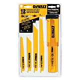DEWALT DW4892 Bi-Metal Reciprocating Saw Blade Set with Case,...