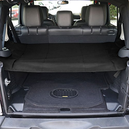 TMB Motorsports Cargo Cover for 2007-2017 Jeep JK Wrangler Trunk Shield Tarp by TMB Motorsports