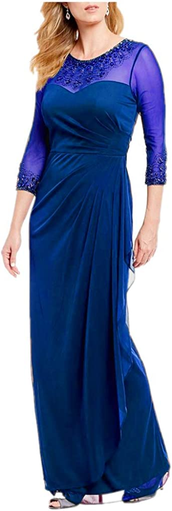 Womens Illusion Sweetheart Neck Dress Mother of The Bride Dresses Plus Size