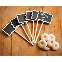 Zorpia® Mini Chalkboard Tag with Stand for Wedding and Party Table Markers Plant Markers Party Favors, Rectangle, Set of 36 by Zorpia