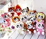 12pcs of the 17cm Chinese Zodiac Set Panda Plush Doll Plush Toy Birthday and Christmas Gifts
