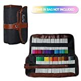 bright colored chart paper - 72 Piece Colored Pencils Coloring Set with Roll up Organizer Case by Handi Stitch - Vibrant Colors for Adult and Kids Coloring Books, Drawing, Art and Blending Pencil Kit