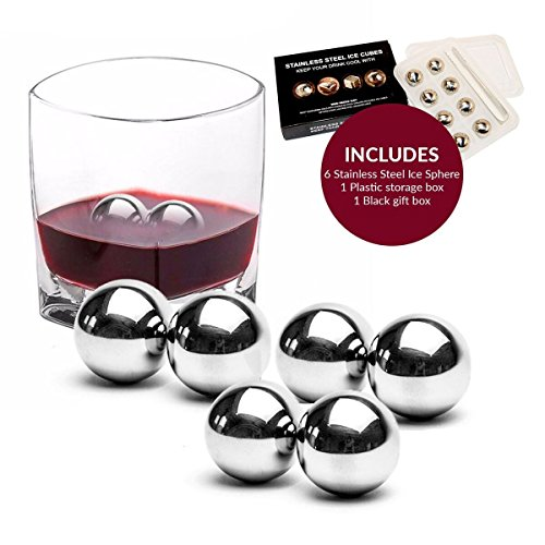 Stainless Steel Whiskey Stones/Rocks-Perfect for Whiskey, Wine, Beer or other drinks Whiskey Cubes Scotch Stones Set whiskey ice cube stones Cold Stone Rocks for ALL Drinks-Long lasting ...