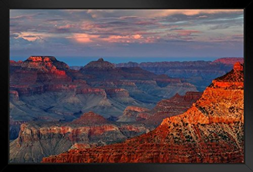 - Grand Canyon National Park Mather Point Sunset Photo Art Print Framed Poster 20x14 inch
