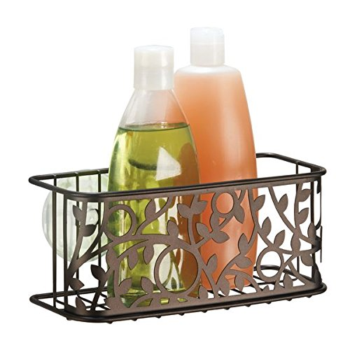 mDesign Suction Bathroom Shampoo Conditioner