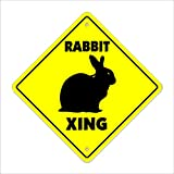 Rabbit Crossing Sign Zone Xing | Indoor/Outdoor | 17″ Tall Bunny cage pet Lover Hare Hutch Breed Bunnie Review