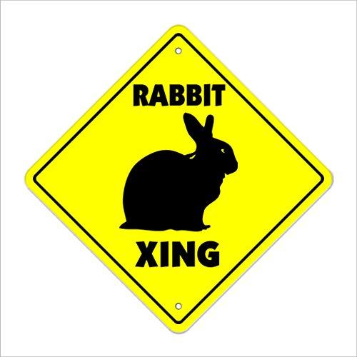 Rabbit Crossing Sign Zone Xing | Indoor/Outdoor | 12