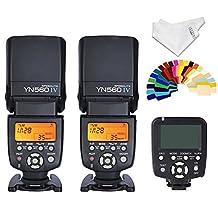 Wireless Flash Controller - Yongnuo 2pcs YN560 IV Flash kit +YN560TX LCD Wireless Flash Controller For Nikon