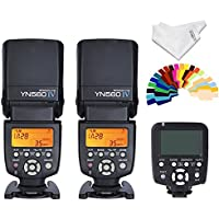 Yongnuo 2pcs YN560 IV Flash kit +YN560TX LCD Wireless Flash Controller For Nikon