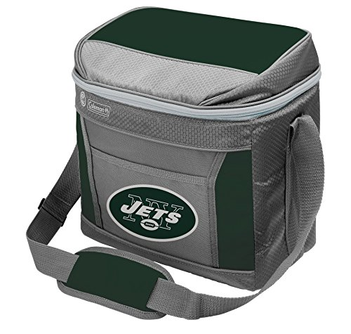 NFL New York Jets 16 Can Soft-Sided Cooler with Ice, Green