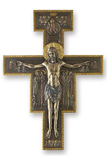The San Damiano Crucifix Cross Wall Plaque Sculpture 15