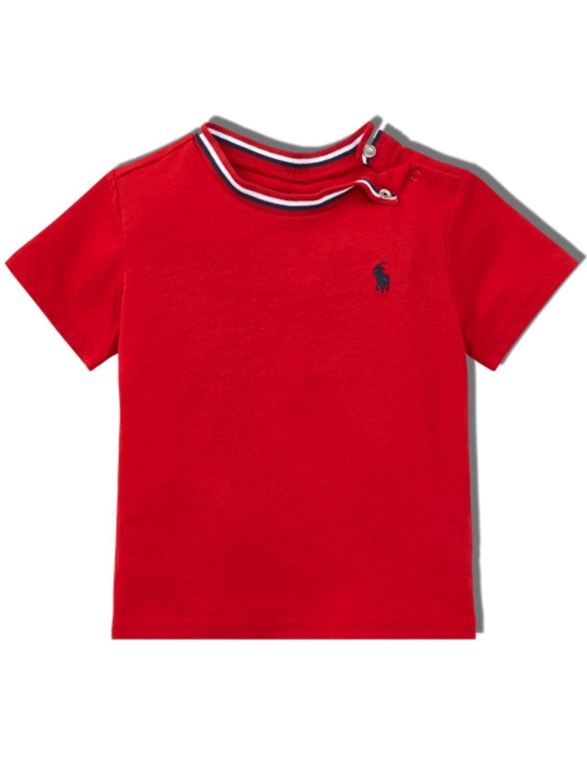 Ralph Lauren Baby Boys Polo Ring Red T Shirt 24 mths
