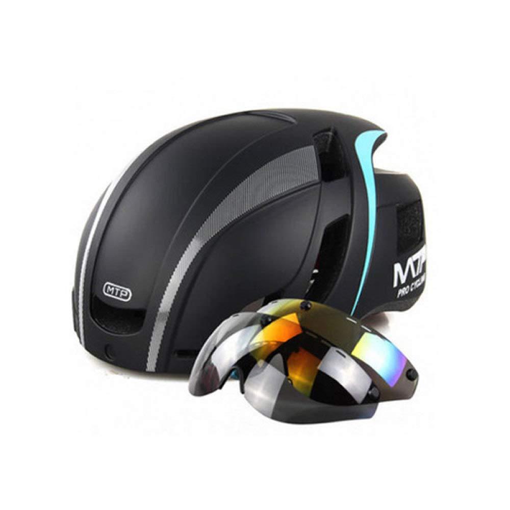 HELMET Cycle Fahrradhelm Mit Abnehmbaren Magnetischen Schutzbrillen Visor Shield Für Frauen Männer,Fahrradhelme Adjustable Erwachsenenschutz und Atmungsaktiv,D